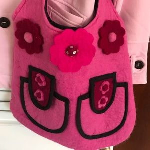 Other - Beautiful Fun Kids Felt Hot Pink bag
